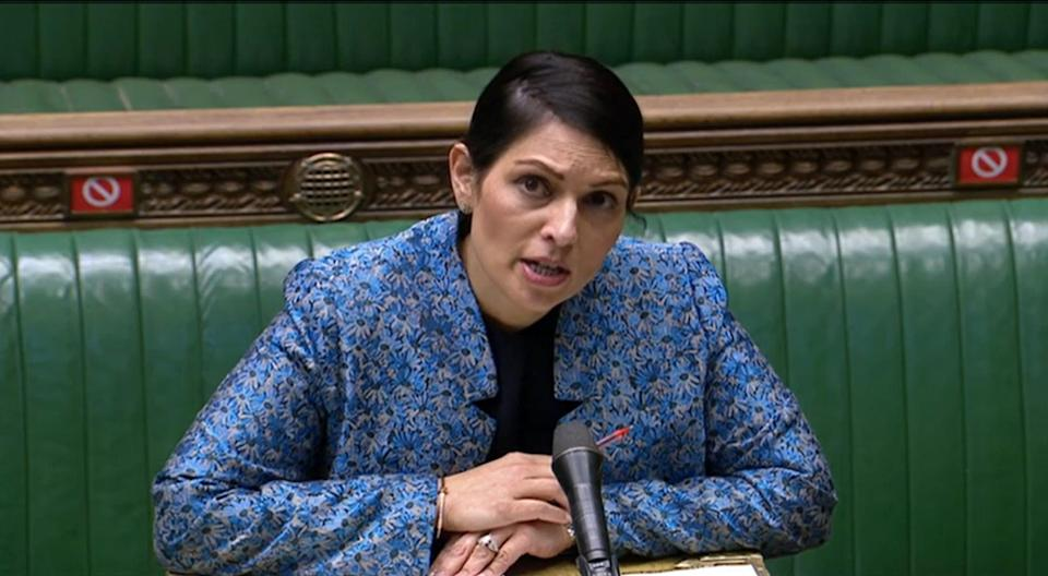 Cross-party MPs and peers have written to home secretary Priti Patel urging her to scrap plans for a women's detention immigration centre in County Durham (House of Commons/PA)