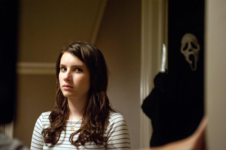 """<p>Horror's favorite final girl, Sidney Prescott, makes yet another appearance in the <strong>Scream</strong> series - along with a <em>ton</em> of the hottest young talent of 2011, including Emma Roberts. With the series's trademark meta humor and witty writing, it's a solid horror film for a scary movie night. While it was a good addition to the franchise, it didn't bring anything new to the table and it wasn't exactly needed. If anything, it just makes me want Sidney to have a break already from the Ghostface killers.</p> <p><a href=""""https://www.hulu.com/movie/scream-4-05f95f67-86bd-41f6-b076-24b2b53199a1?entity_id=05f95f67-86bd-41f6-b076-24b2b53199a1"""" class=""""link rapid-noclick-resp"""" rel=""""nofollow noopener"""" target=""""_blank"""" data-ylk=""""slk:Watch Scream 4 on Hulu"""">Watch <strong>Scream 4</strong> on Hulu</a>.</p>"""