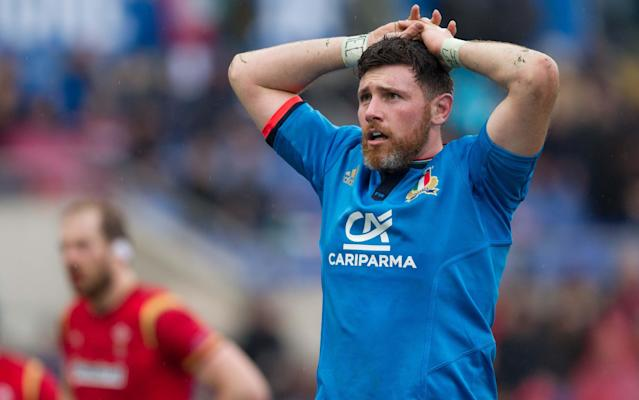 <span>George Biagi, who was born in Irvine, Scotland, will start for Italy</span> <span>Credit: REX FEATURES </span>