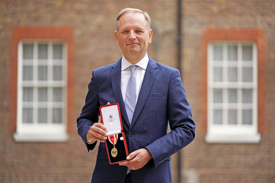 Sir Simon Stevens, chief executive of NHS England, following an investiture ceremony at St James's Palace in central London, where he was knighted by the Prince of Wales (Kirsty O'Connor/PA) (PA Wire)