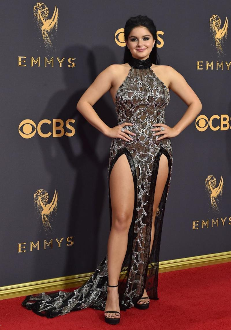 Ariel showed off her curves in a gorgeous gown at this year Emmy Awards. Source: Getty