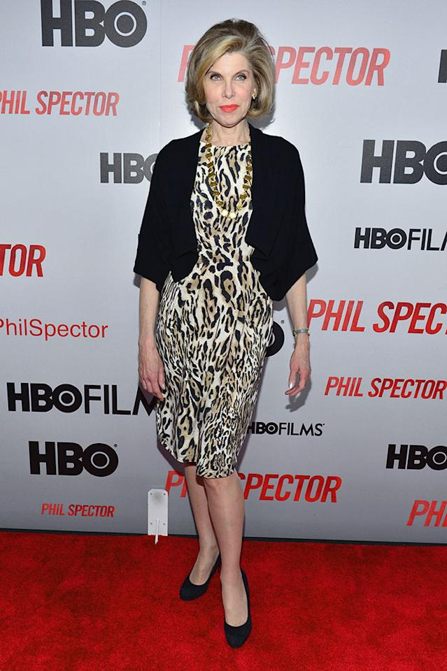 "Christine Baranski attends the ""Phil Spector"" premiere at the Time Warner Center on March 13, 2013 in New York City."
