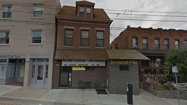 PHOTO: A Google Street View image shows an undated picture of The Huddle, the restaurant and bar in Pittsburgh's Beechview neighborhood where the incident took place. (Google Street View)