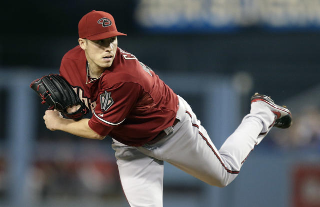 Arizona Diamondbacks starting pitcher Patrick Corbin throws against the Los Angeles Dodgers during the first inning of a baseball game on Wednesday, Sept. 11, 2013, in Los Angeles. (AP Photo/Jae C. Hong)