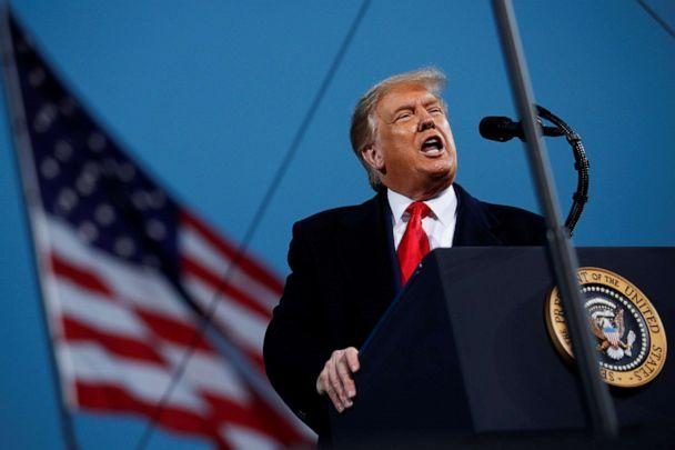 PHOTO: U.S. President Donald Trump speaks during a campaign event in Fayetteville, North Carolina, U.S., September 19, 2020. (Tom Brenner/Reuters)
