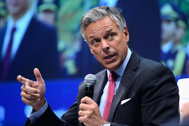 Jon Huntsman speaking at the 2015 Concordia Summit in New York City. (Photo: Leigh Vogel/Getty Images)