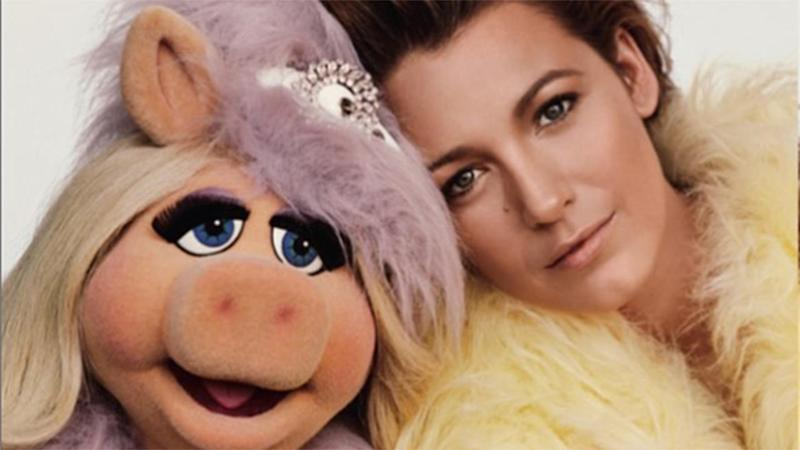 Blake Lively Poses With Kermit and Miss Piggy for 'Love' Magazine: See the Cute Pics!