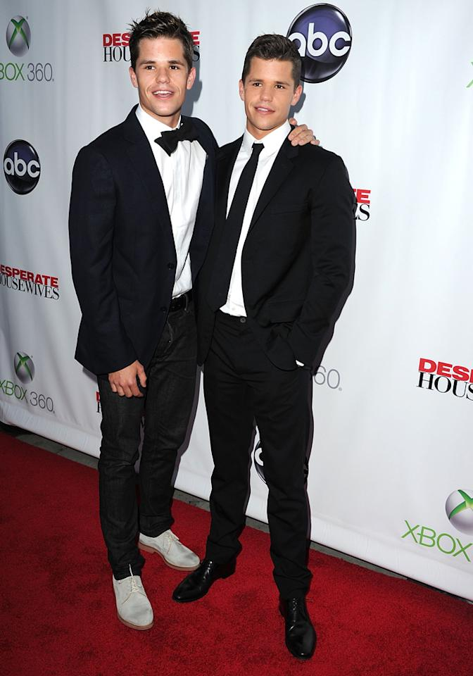 "Charlie Carver and Max Carver attend the ""<a target=""_blank"" href=""http://tv.yahoo.com/desperate-housewives/show/36265"">Desperate Housewives</a>"" Series Finale Party at the W Hollywood on April 29, 2012 in Hollywood, California."