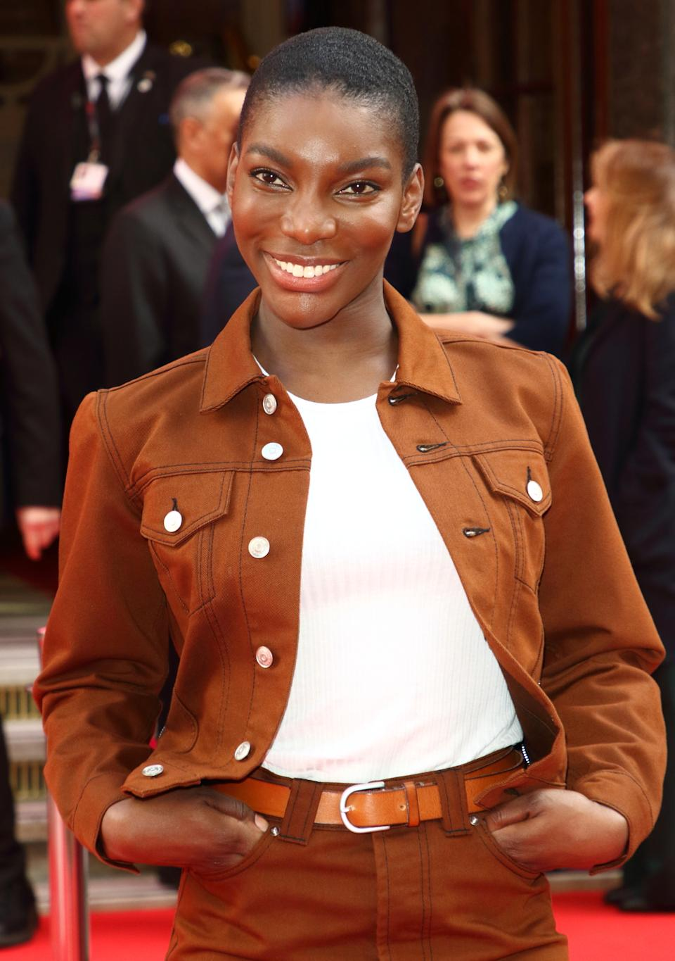Michaela Coel attends the Prince's Trust And TK Maxx & Homesense Awards at London Palladium. (Photo by Keith Mayhew / SOPA Images/Sipa USA)