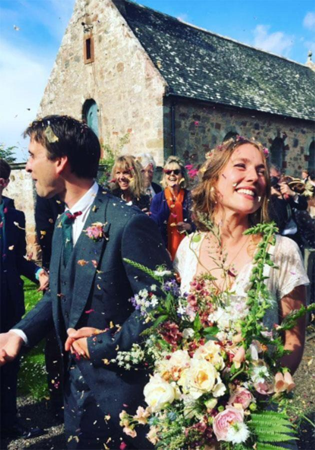 Tess tied the knot in a small church near where her great-grandmother got married. Photo: Facebook