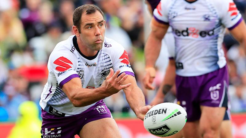 Seen here, Cam Smith in action for the Storm during the 2020 NRL season.