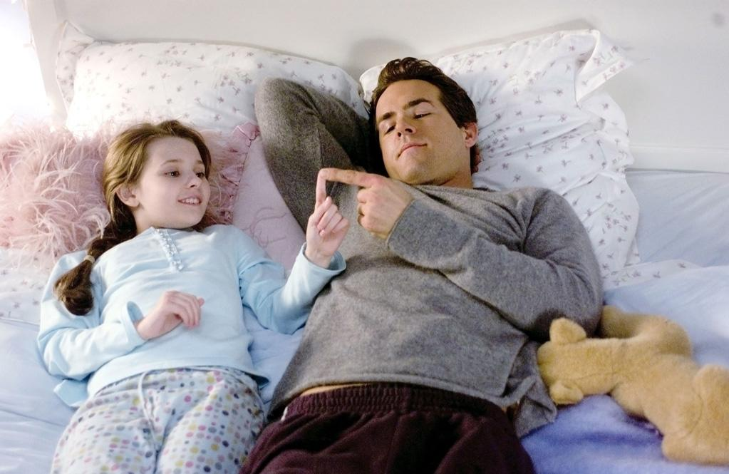 """<a href=""""http://movies.yahoo.com/movie/1809772239/info"""">Definitely, Maybe</a> (2008): Despite the weak title, this is by far the best movie of the bunch. It is that rare thing: a romantic comedy with a brain and surprises to boot. Leading a strong cast, Ryan Reynolds stars as a dad whose 10-year-old daughter (Abigail Breslin) demands that he explain to her where she came from and who else he dated before her mom. He reluctantly obliges by telling her a bedtime story, describing his history with Elizabeth Banks, Isla Fisher and Rachel Weisz but changing their characters' names so she won't know which one's her mother until the end. It all takes too long to wrap up but in its best moments, """"Definitely, Maybe"""" crackles like the classic examples of the genre."""
