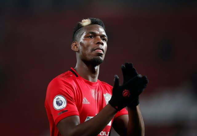 Paul Pogba is set to be sidelined once again (Martin Rickett/PA)