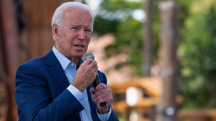 Joe Biden speaking in Charlotte, N.C., on Wednesday. (Jim Watson/AFP via Getty Images)
