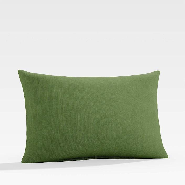 Cushion in coriander color available at Crate & Baril
