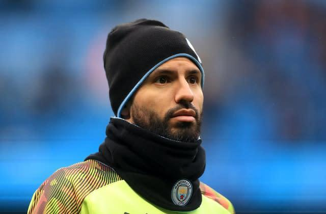 Sergio Aguero has expressed caution at returning to action (Mike Egerton/PA)
