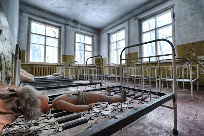 Abandoned kindergarten in Chernobyl Exclusion Zone