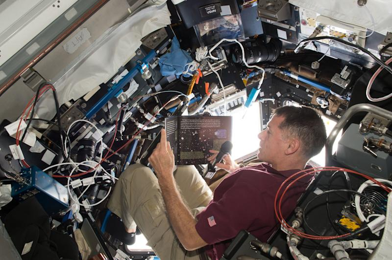Story Time from Space is a project that features astronauts reading children's books from the International Space Station.
