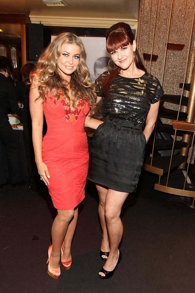 """Presenters Carmen Electra and a newly svelte Sara Rue hung out together backstage. Apparently, Ms. Electra had a little trouble prior to arriving. """"I had a very unexpected wardrobe malfunction on my way out the door 2 the #NewNowNext awards 2nite but luckily I had another dress ready,"""" she tweeted. """"I was so stressed trying 2 make it on time this has never happened b4. So sorry I missed the red carpet! :("""" Good thing she had backup! Christopher Polk/<a href=""""http://www.gettyimages.com/"""" target=""""new"""">GettyImages.com</a> - April 7, 2011"""