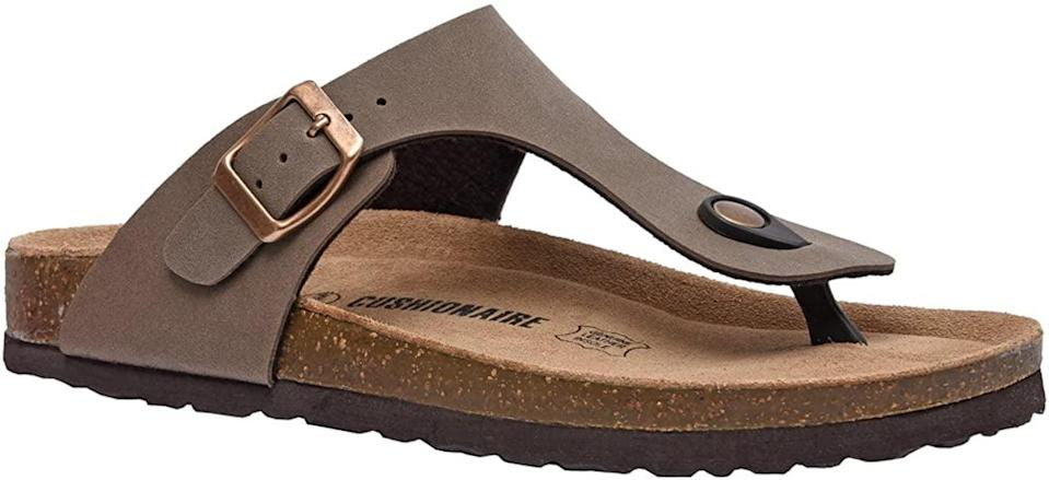 <p>Feel comfy and relaxed all day in the <span>Cushionaire Leah Cork Footbed Sandal</span> ($25).</p>