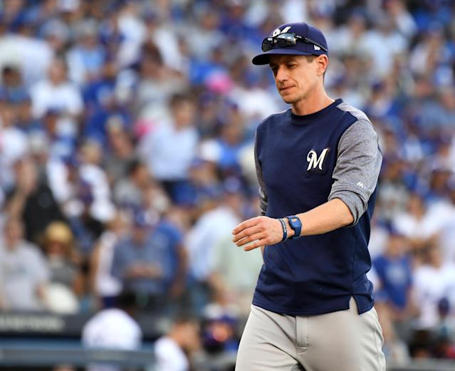 Craig Counsell is Jeff Passan's choice for NL Manager of the Year, but he selected him with no conviction. (Getty Images)