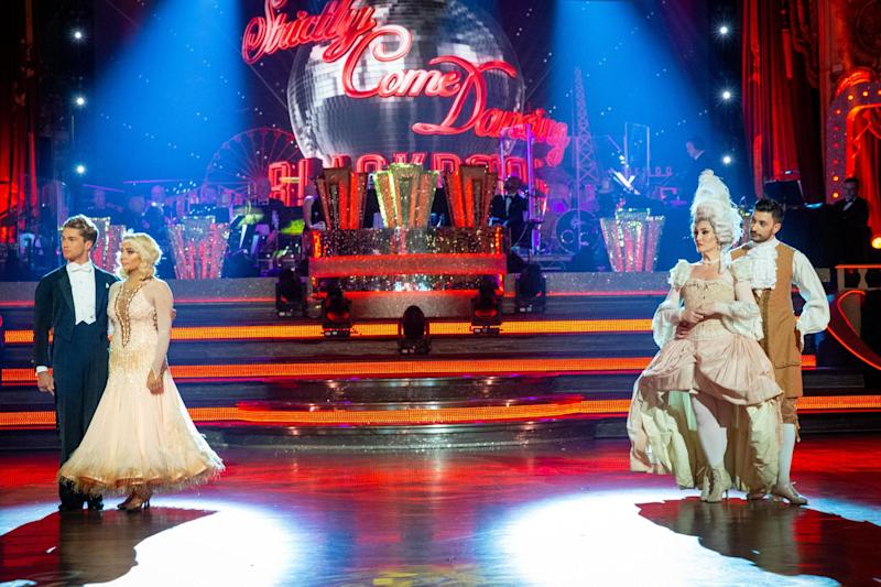 Dance off: Saffron Barker and Michelle Visage fought for their places on the show last week (BBC/Guy Levy)