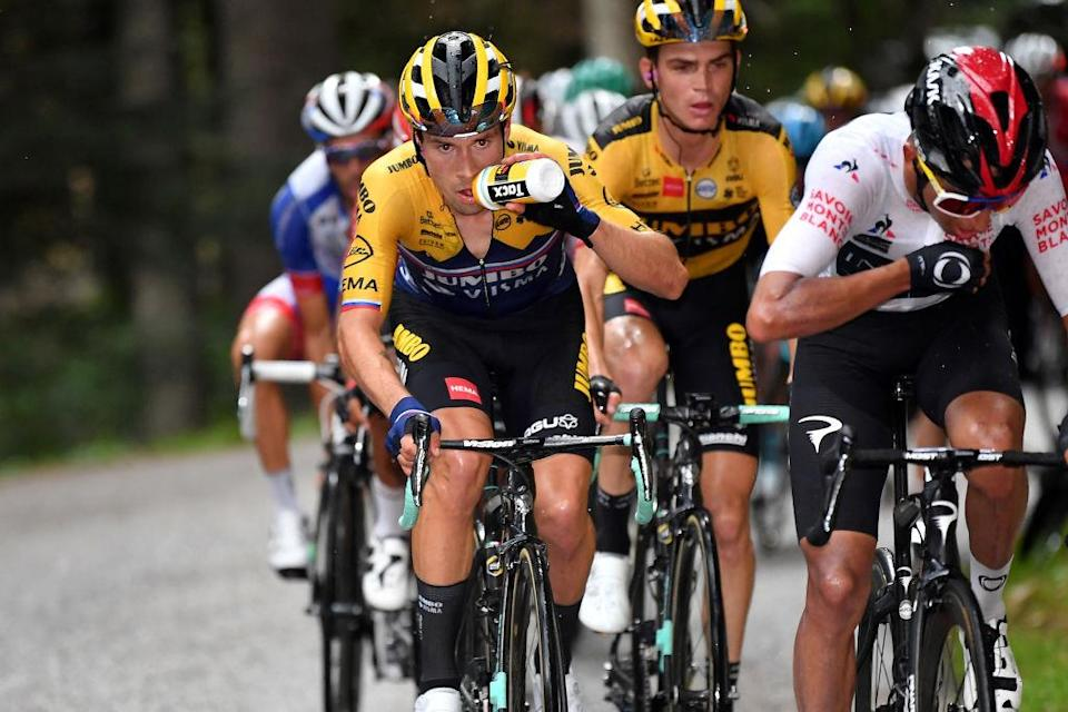Primoz Roglic and Egan Bernal