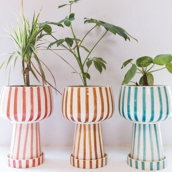 """<p>""""My apartment could use some life this spring and a fun planter will also add to my decor. I love this <span>Jungalow Kaya 3-Piece Ceramic Planter by Justina Blakeney</span> ($68) so much, I want it in every color."""" - MCW</p>"""