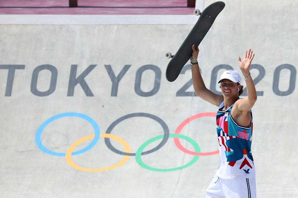 Stoked | USA's Jagger Eaton waves to the photographers in Tokyo (REUTERS)