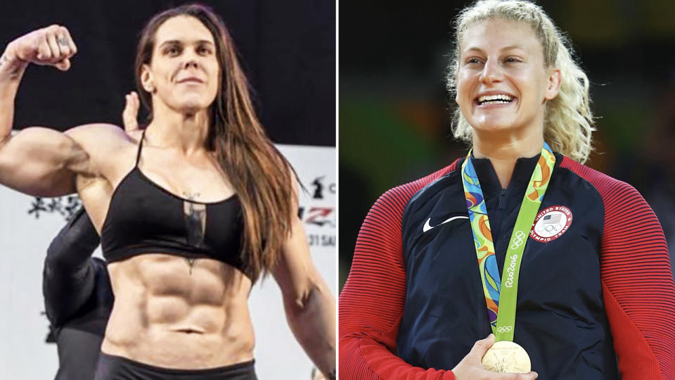 Gabi Garcia and Kayla Harrison, pictured here in their respective divisions.