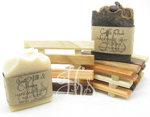 "These <a href=""https://www.etsy.com/listing/529356314/handmade-goat-milk-soap-and-handcrafted?ref=related-4"" target=""_blank"">simple but thoughtful gift</a> will wow any surprise guest."