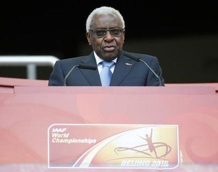 File photo of Lamine Diack speaking during the opening ceremony of the 15th IAAF World Championships at the National Stadium in Beijing, China August 22, 2015. REUTERS/Damir Sagolj