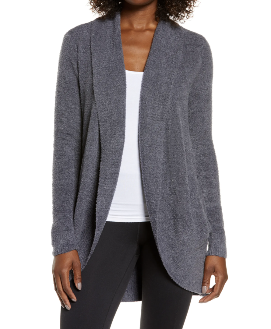Barefoot Dreams CozyChic Lite Circle Cardigan in Pacific Blue (Photo via Nordstrom)