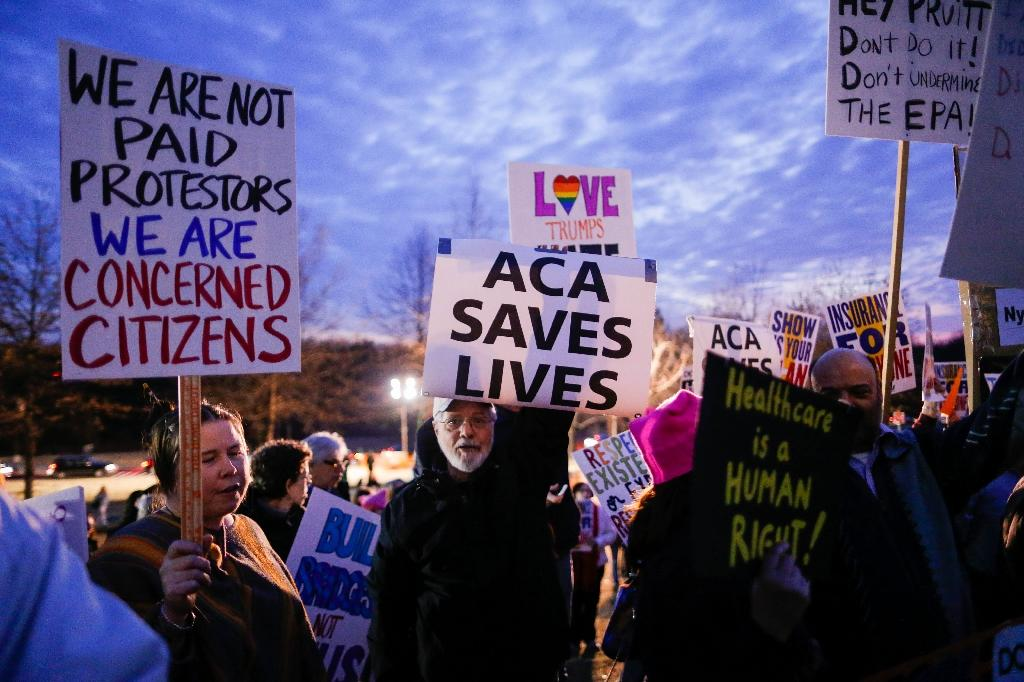 Many Americans have voiced concern that the American Health Care Act will leave millions uninsured (AFP Photo/EDUARDO MUNOZ ALVAREZ)
