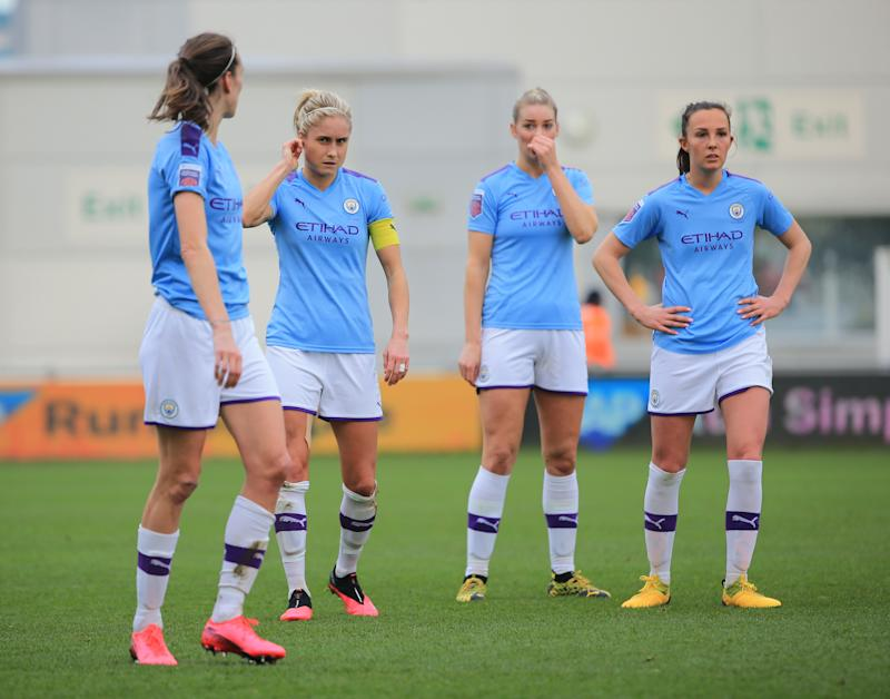 Manchester City was leading the WSL table but won't get a chance to finish the season. (Photo by Tom Flathers/Manchester City FC via Getty Images)