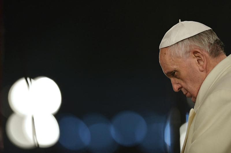 Pope Francis arrives at the Colosseum on March 29, 2013 in Rome