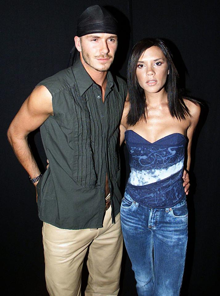 <p>Victoria once told TV viewers of The Big Breakfast that her soccer star boyfriend liked to borrow her underwear. The singer then said it was a joke, but when asked by interviewer Johnny Vaughan she admitted that David preferred her to wear g-strings! (Fiona Hanson/PA Archive/PA Images) </p>