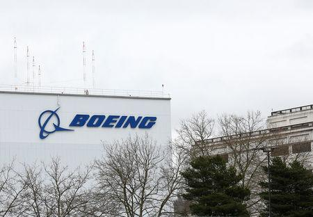 The Boeing building is seen next to Boeing Field in Seattle