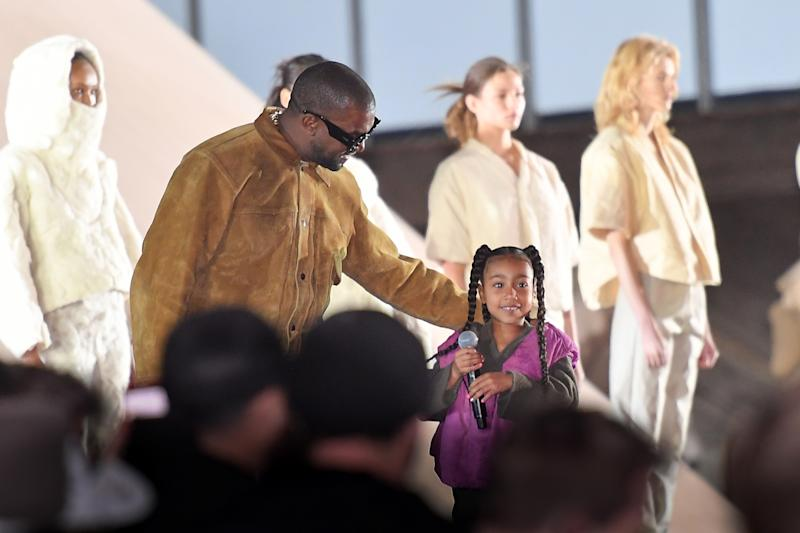 North West Performing at the Yeezy Show in Paris Is the Best Thing You'll See Today