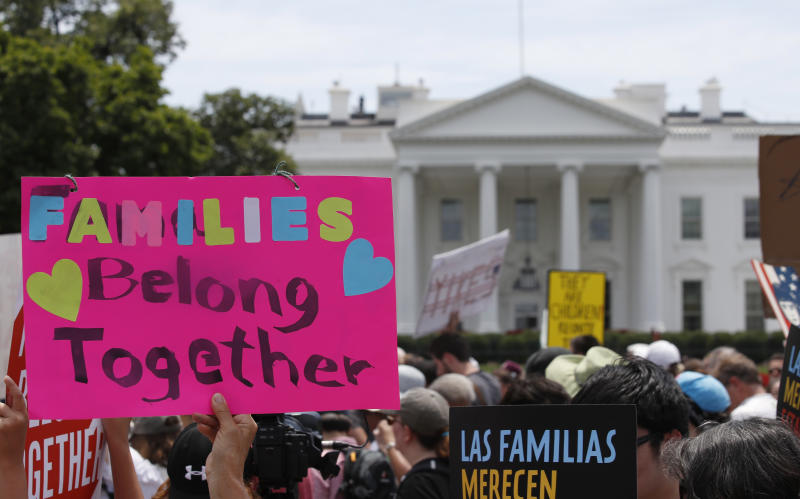 Immigration activists at the White House