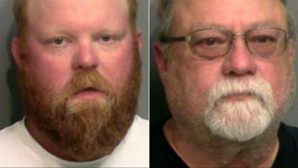 PHOTO: Travis McMichael and his father, Gregory McMichael, right, in a photos released on May 7, 2020, after their arrest in Georgia. The father and son have been charged with murder in the shooting death of Ahmaud Arbery. (Glynn County Sheriff's Office)