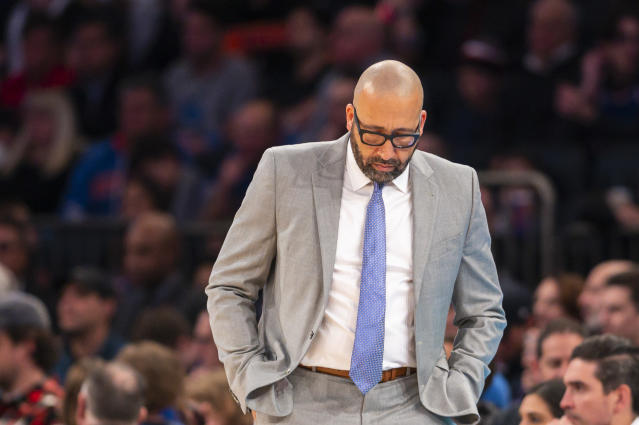 The Knicks finally decided it was David Fizdale's time to go. (AP Photo/Corey Sipkin).