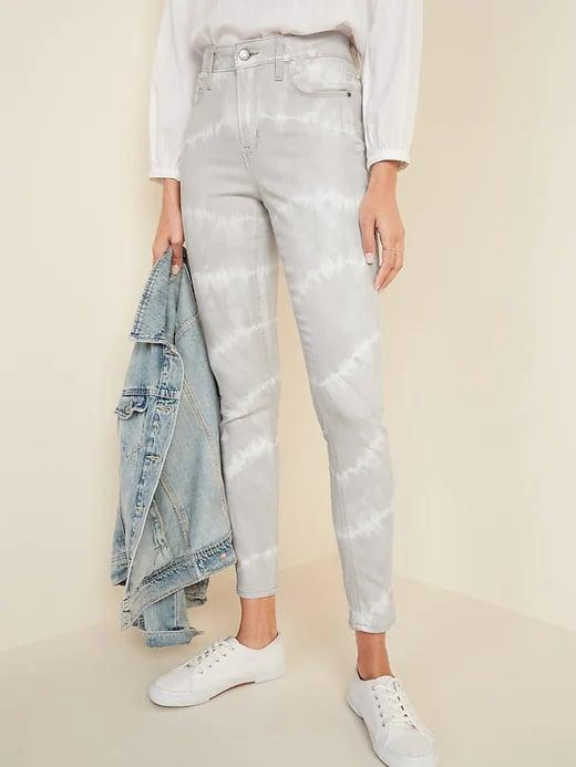 <p>It's not a huge leap to go from a matching tie-dye sweatsuit from 2020 to a pair of these <span>Old Navy High-Waisted Rockstar Super Skinny Tie-Dye Jeans for Women</span> ($25, originally $45) with your favorite top in 2021.</p>