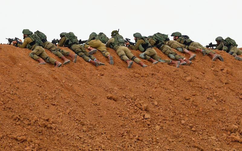 Israel has deployed additional forces to the Gaza frontier (AFP Photo/Jack GUEZ )