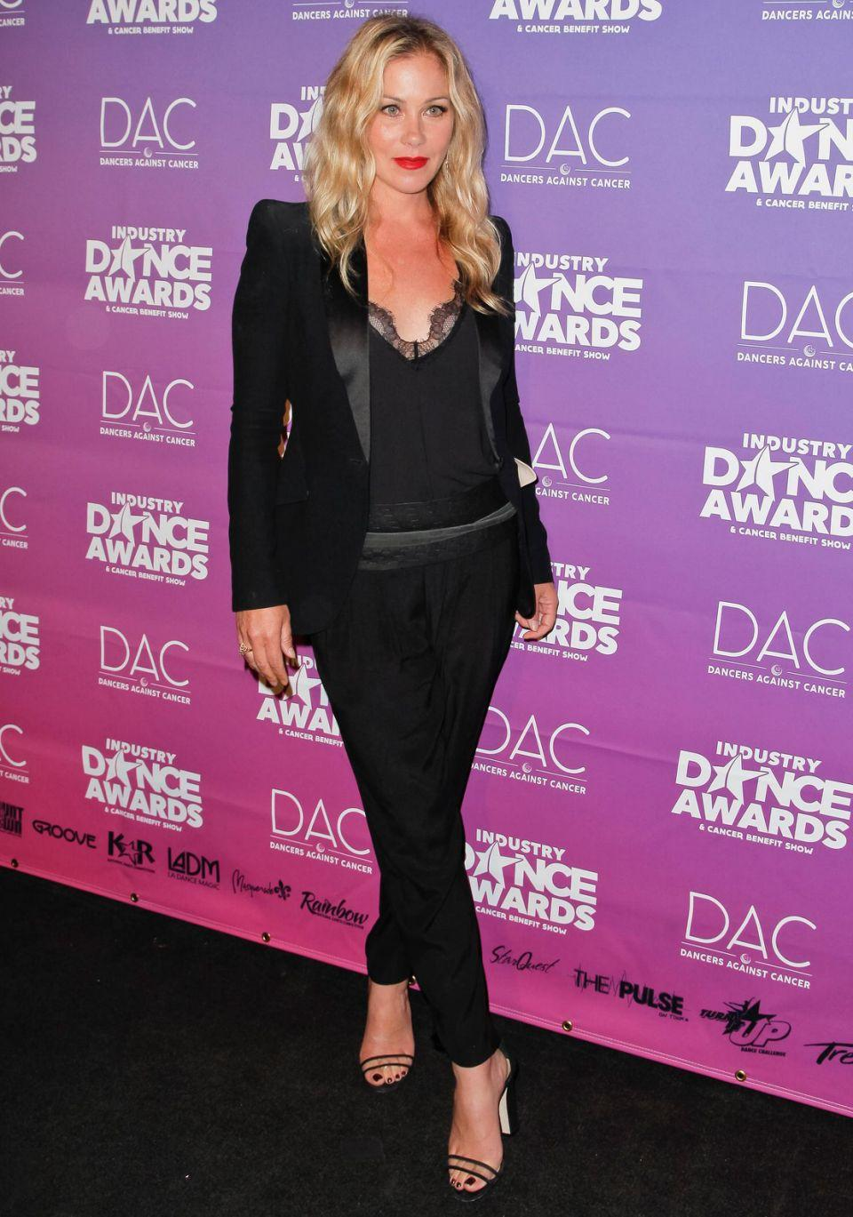 The actress (here in August 2017) battled through breast cancer in 2008 and underwent a double mastectomy. Source: Getty
