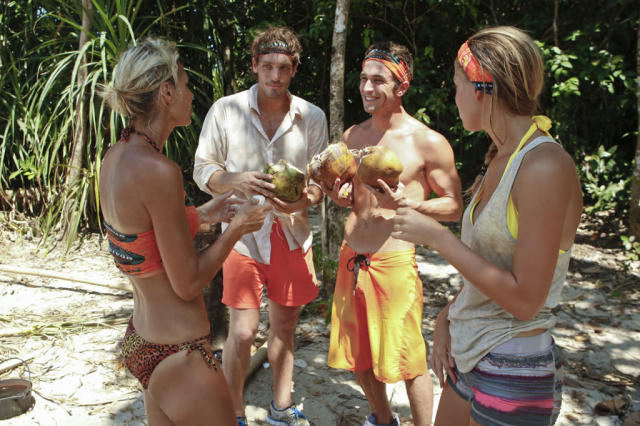 """Second Episode"" - Sherri Biethman, Reynold Toepfer, Edward ""Eddie"" Fox and Hope Driskill of the Gota Tribe during the second episode of ""Survivor: Caramoan - Fans vs. Favorites."""