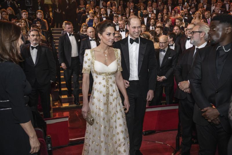 The Duke and Duchess of Cambridge attend the EE British Academy Film Awards ceremony at the Royal Albert Hall. The Duke, President of the British Film Academy Award of Film and Television Arts (BAFTA) and The Duchess will meet BAFTA representatives and watch the ceremony.