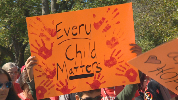 'Every Child Matters' has become the slogan for Orange Shirt Day, a day to recognize the legacy of Indian residential schools, which has now become the Sept. 30 National Day for Truth and Reconciliation. (CBC News - image credit)