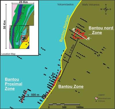 Figure 1 - Location of Bantou Nord Zone (CNW Group/SEMAFO)