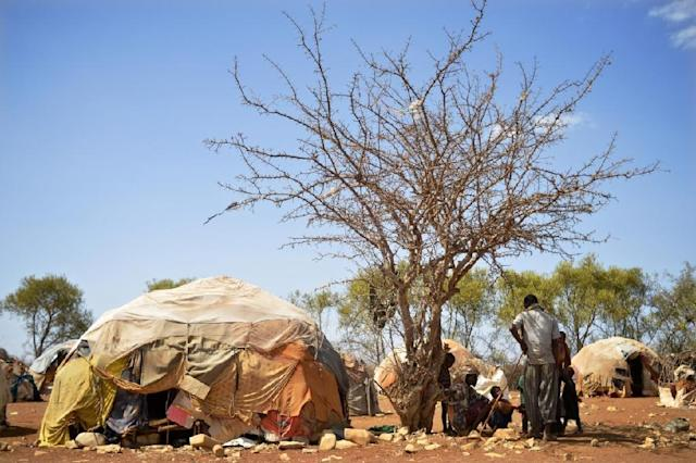 More than 377,000 were uprooted in the first three months of 2017, taking the number of those internally displaced by conflict and drought in Somalia to more than a million (AFP Photo/)